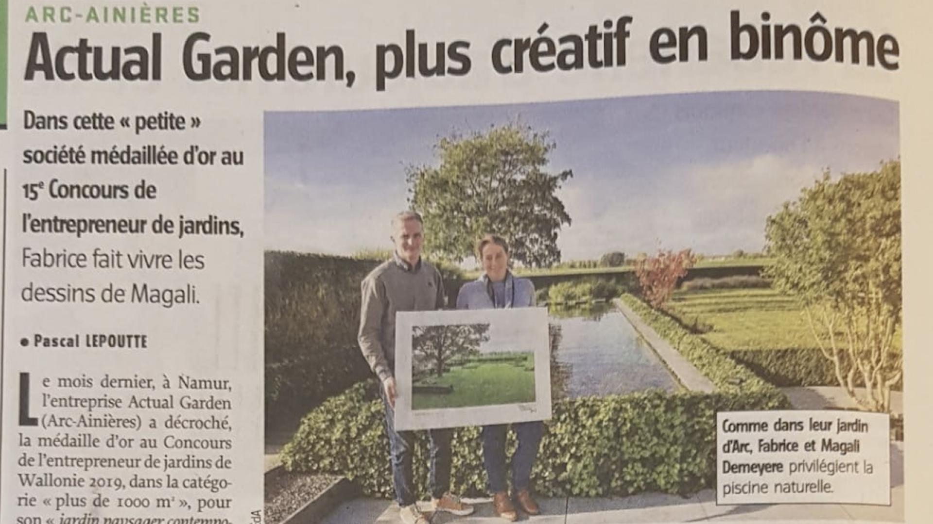 Parution dans l'avenir : Actual Garden, plus créatif en binôme.